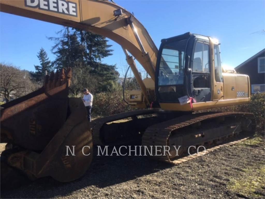 John Deere 200C LC、履带挖掘机、建筑设备