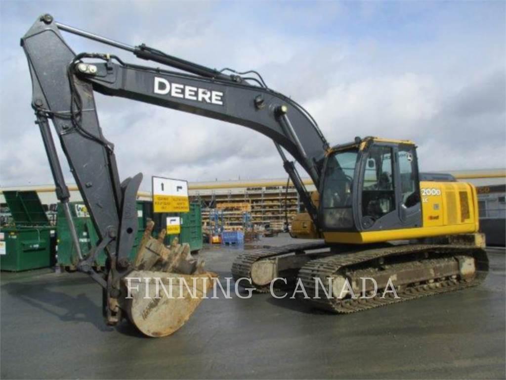 John Deere 200D, Crawler Excavators, Construction