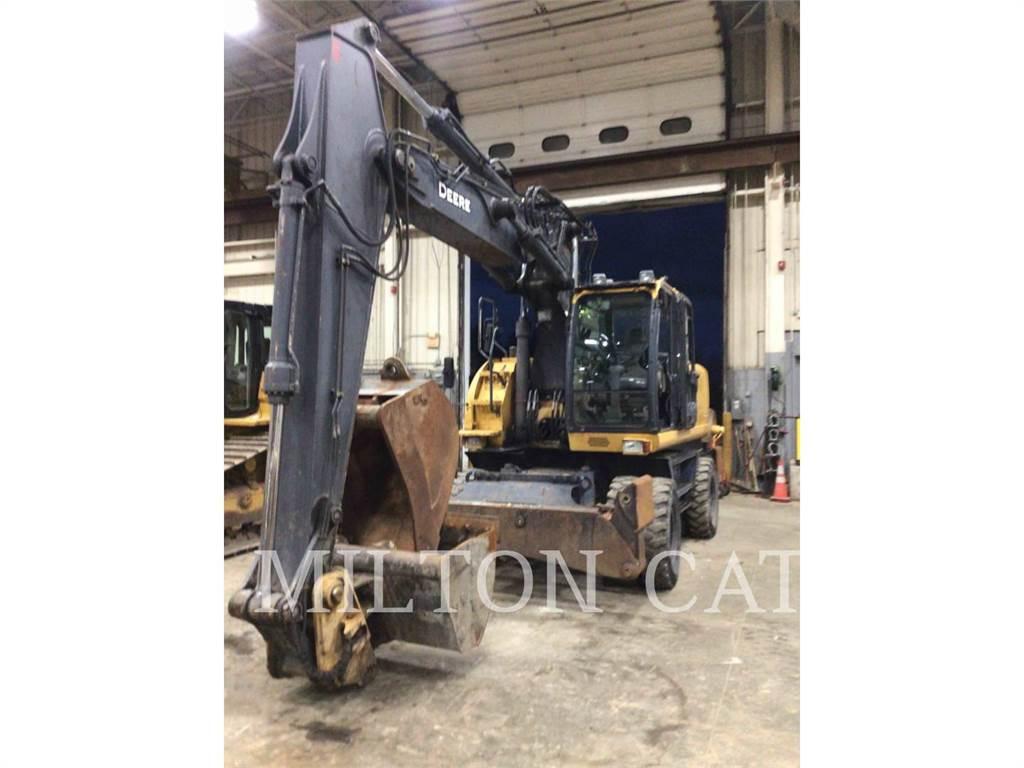 John Deere 220DW, wheel excavator, Construction