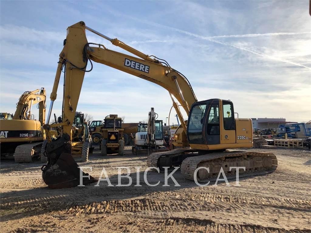 John Deere 225C, Excavadoras de cadenas, Construcción