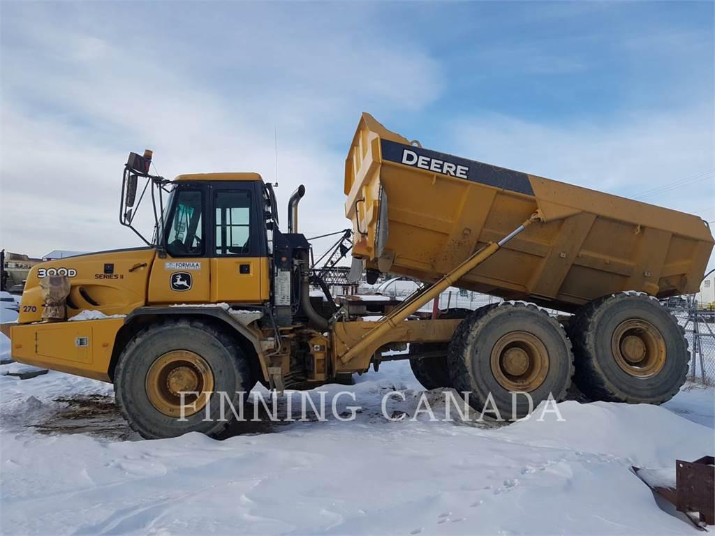 John Deere 300D, Articulated Dump Trucks (ADTs), Construction