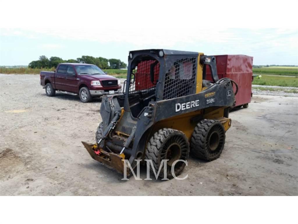 John Deere 318E_JD, Mini ładowarki, Sprzęt budowlany