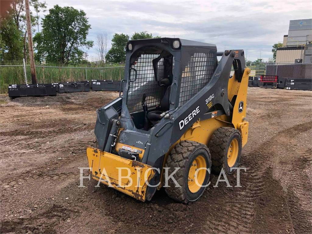 John Deere 318G, Skid Steer Loaders, Construction