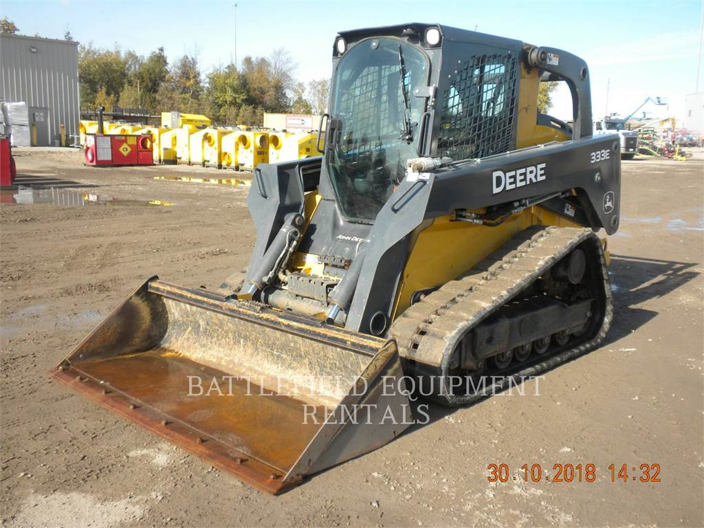 John Deere 333E, Skid Steer Loaders, Construction