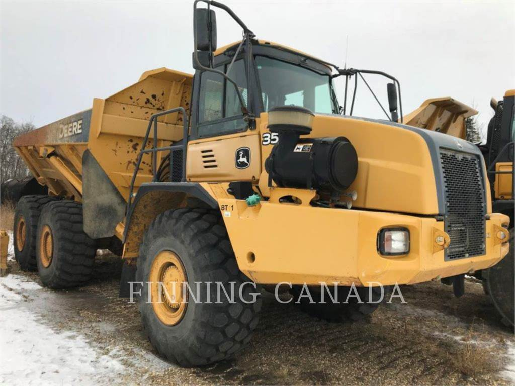 John Deere 350D, Articulated Dump Trucks (ADTs), Construction