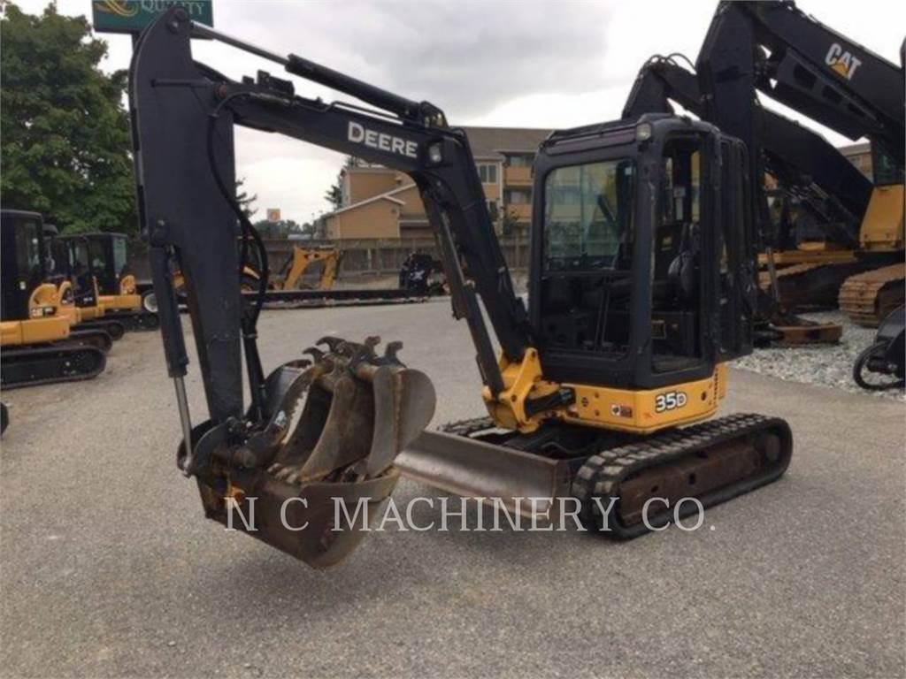 John Deere 35D, Escavadoras de rastos, Equipamentos Construção