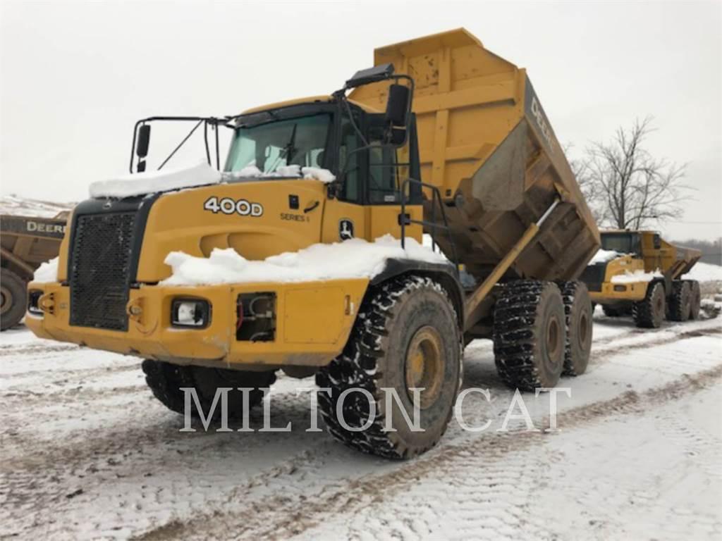 John Deere 400D-II, Knik dumptrucks, Bouw