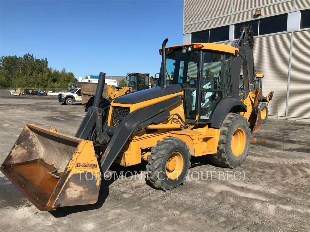 John Deere 410J, buldoexcavatoare, Constructii