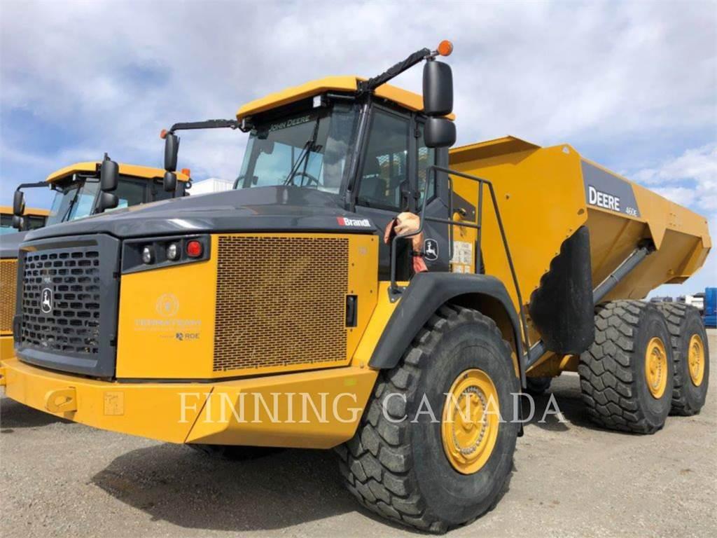 John Deere 460 E, Articulated Dump Trucks (ADTs), Construction