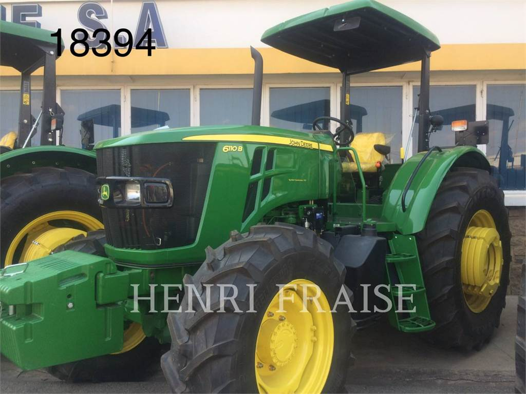 John Deere 6110B, tracteurs agricoles, Agricole