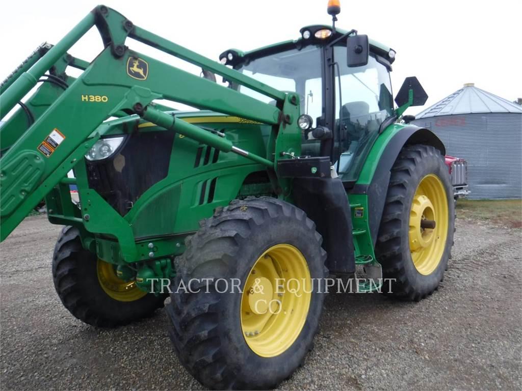 John Deere 6170R, tracteurs agricoles, Agricole