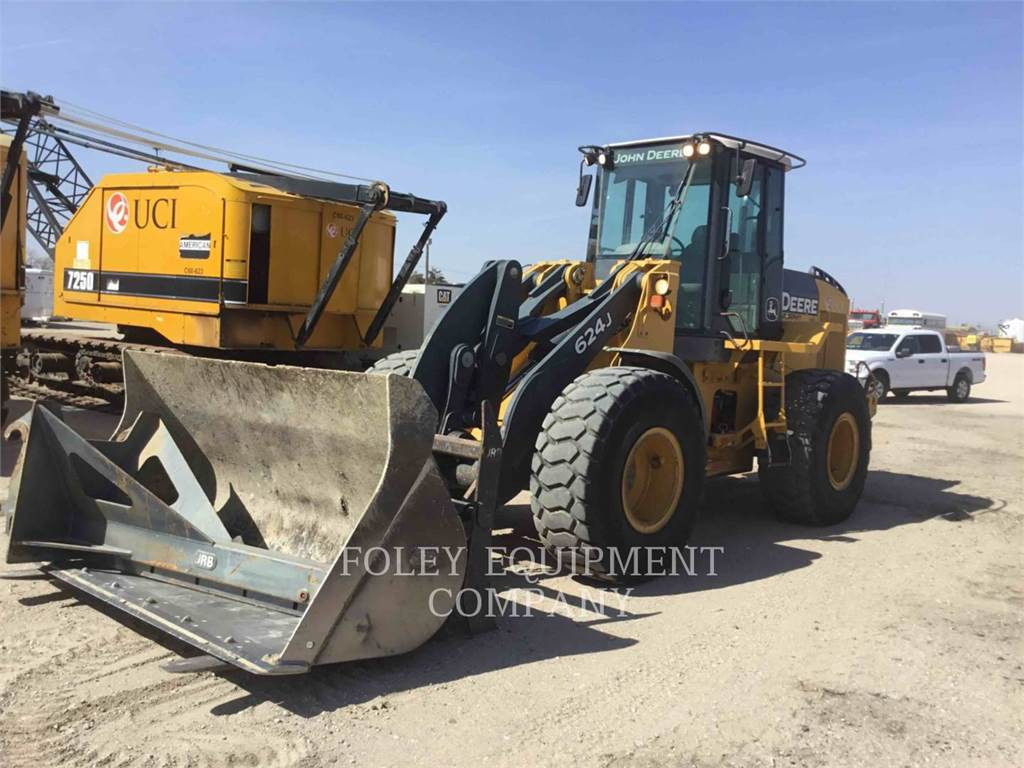 John Deere 624J, Wheel Loaders, Construction