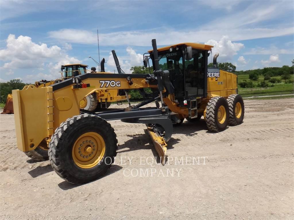 John Deere 770G, motorgrader mijnbouw, Bouw
