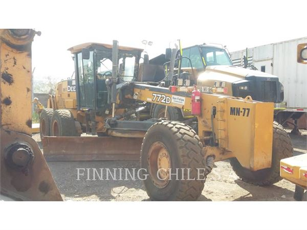 John Deere 772D, motor graders, Construction