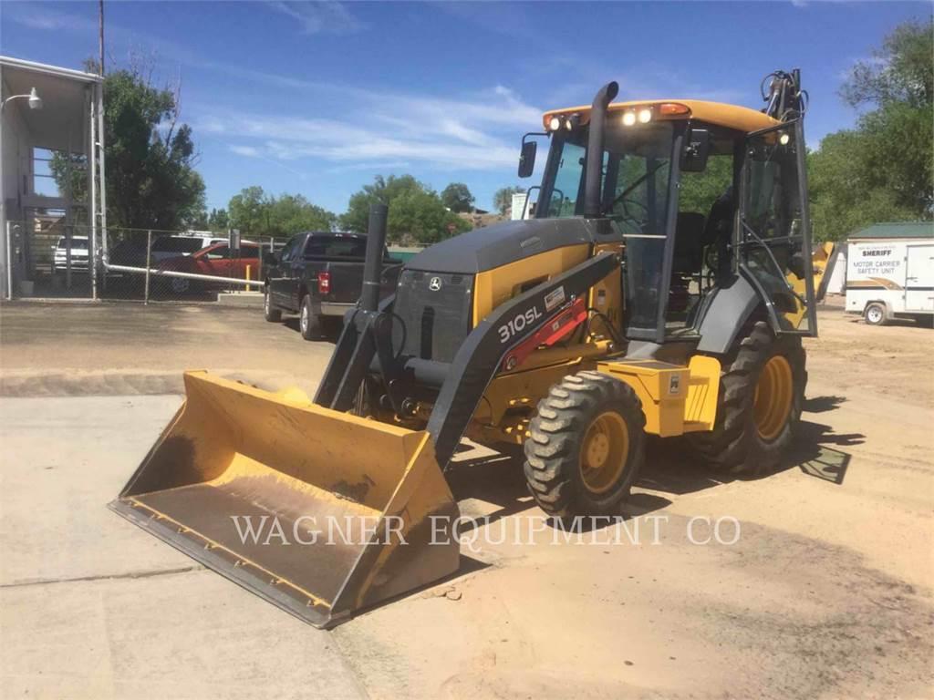 John Deere & CO. 310SL 4WDE, backhoe loader, Construction