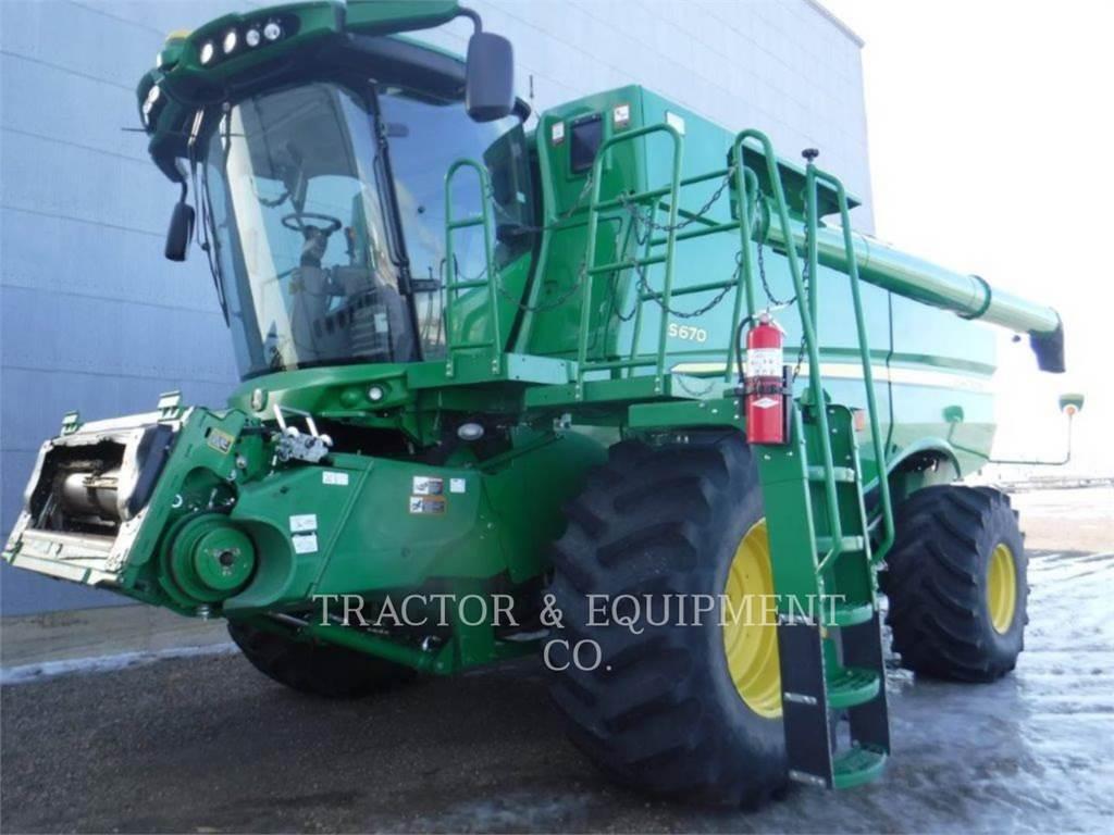 John Deere S670, combines, Agriculture