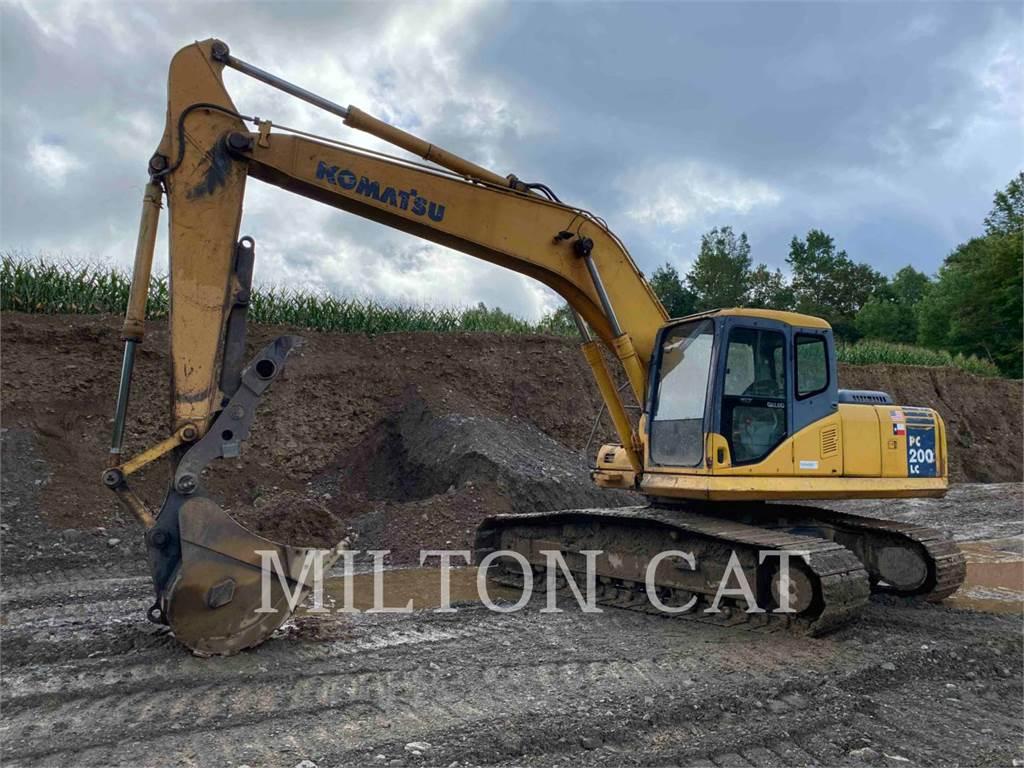 Komatsu PC200 LC, Crawler Excavators, Construction