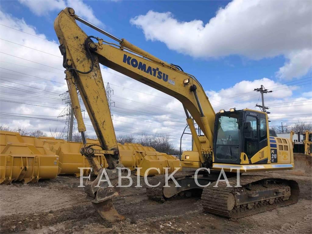 Komatsu PC210, Escavadoras de rastos, Equipamentos Construção