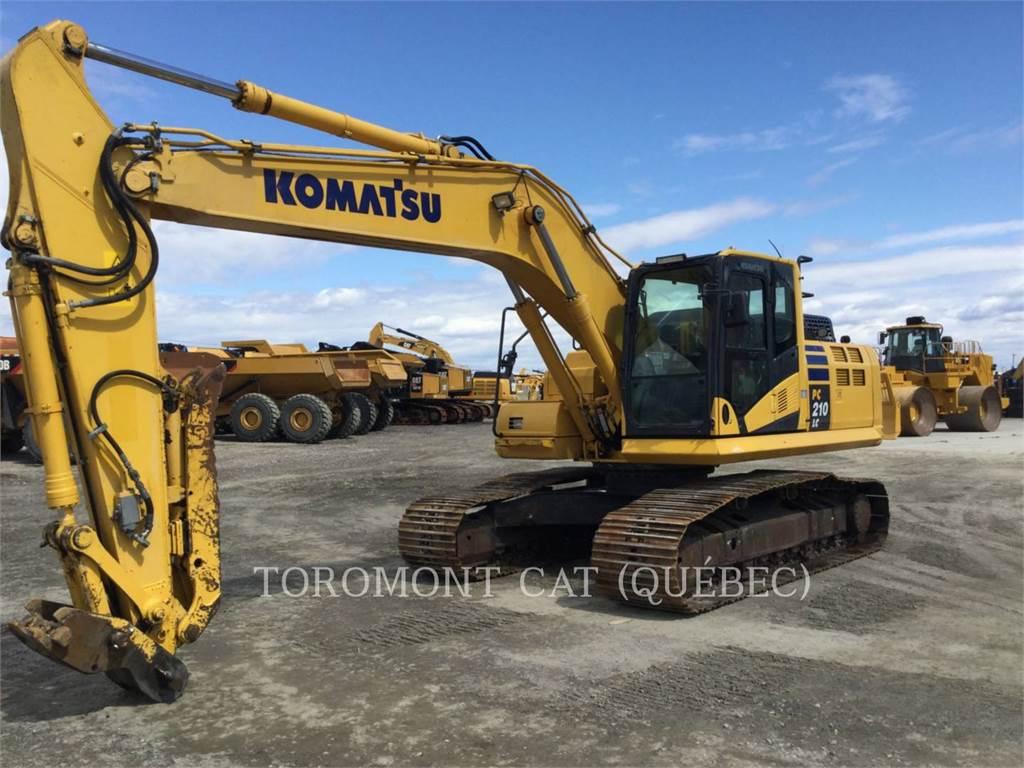 Komatsu PC210LC, Crawler Excavators, Construction