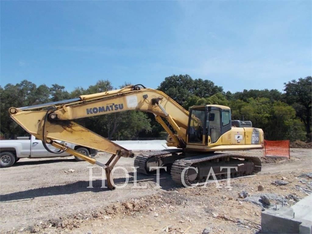 Komatsu PC300LC-7E0, Excavadoras de cadenas, Construcción