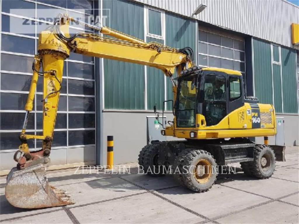 Komatsu PW160-7, wheel excavator, Construction