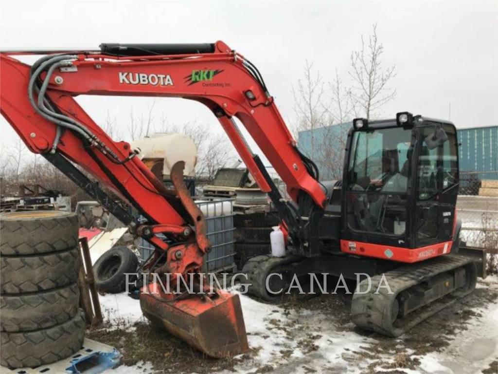 Kubota KX080-4, Excavatoare pe senile, Constructii