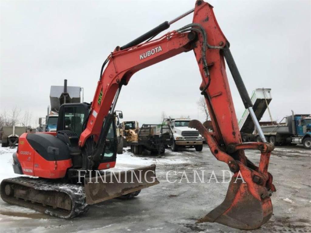 Kubota KX080-4, Pelle sur chenilles, Équipement De Construction