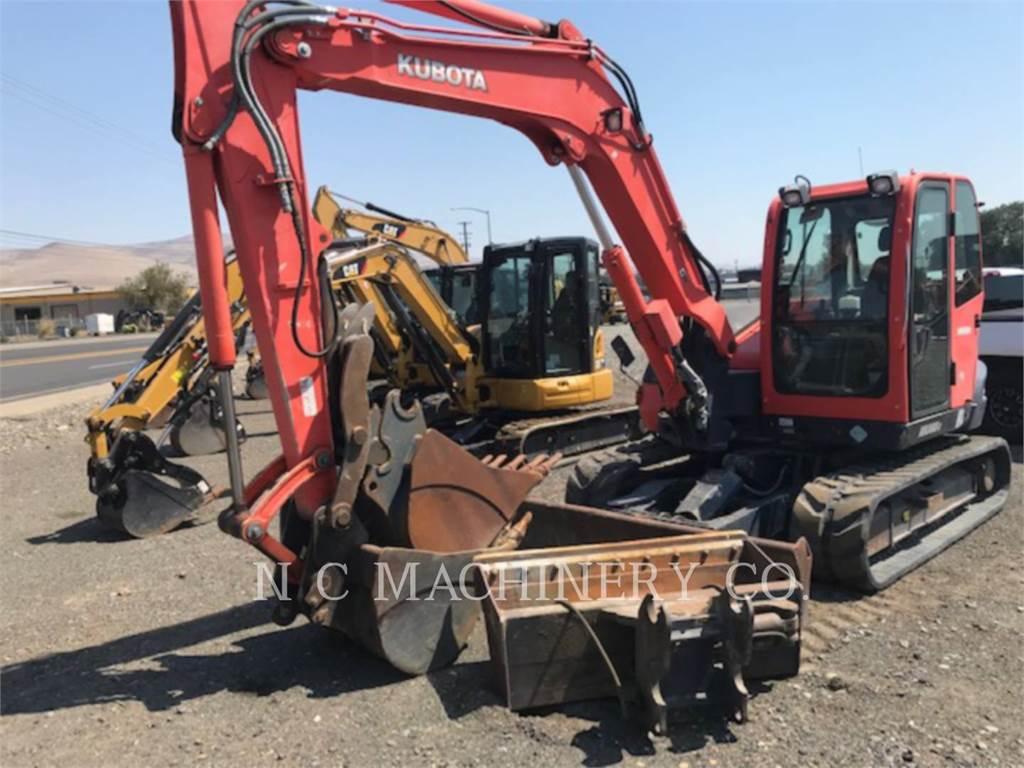 Kubota MANUFACTURING OF AMERICA KX080 3, Crawler Excavators, Construction