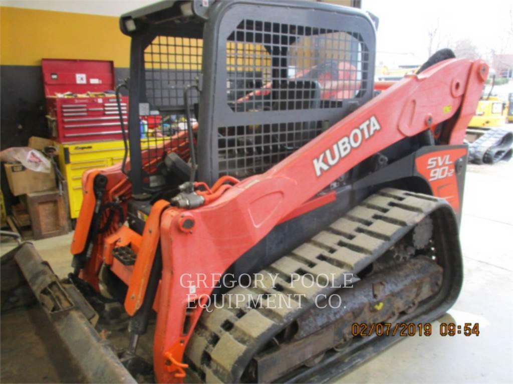 Kubota SVL90-2, Carregadoras de direcção deslizante, Equipamentos Construção