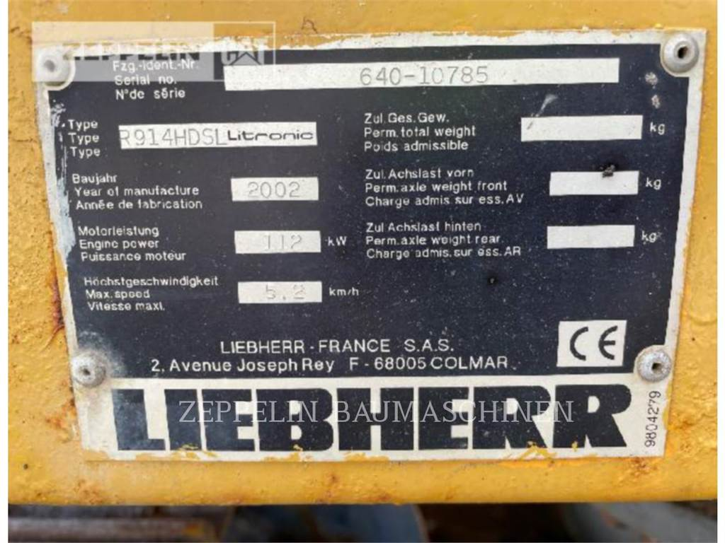 Liebherr 914C LI, Crawler Excavators, Construction
