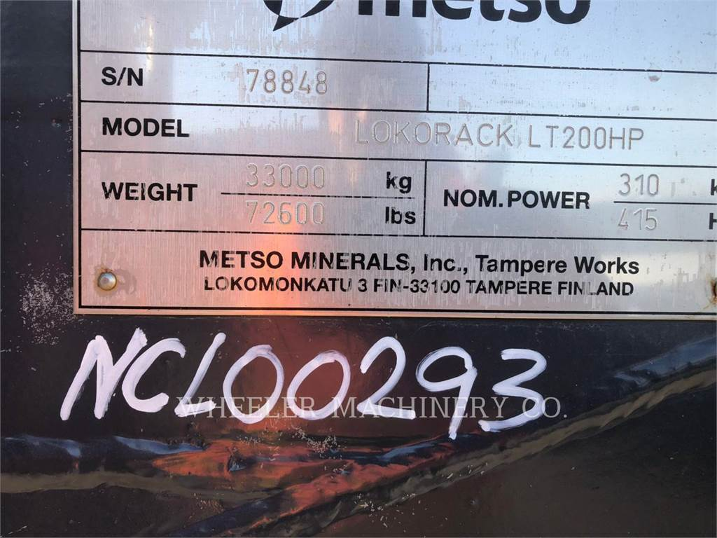 Metso LT200HP, crusher, Construction