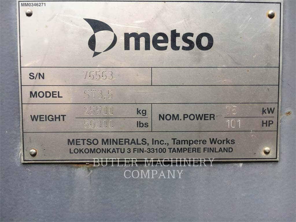 Metso ST3.5LOKOT、自走式スクリーン、建設