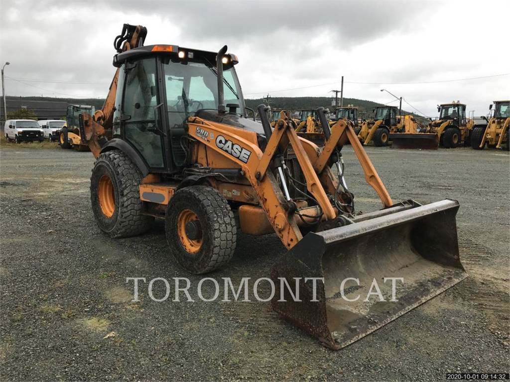 New Holland 580SNWT, backhoe loader, Construction