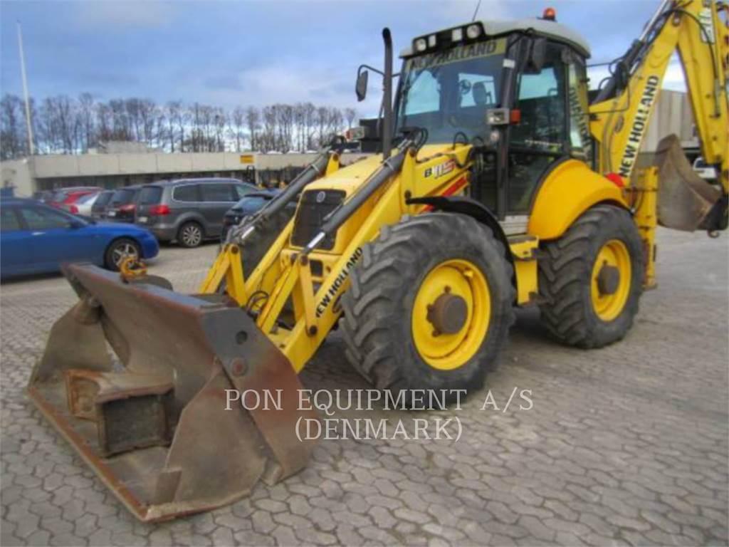 New Holland B 115 4PS, backhoe loader, Construction