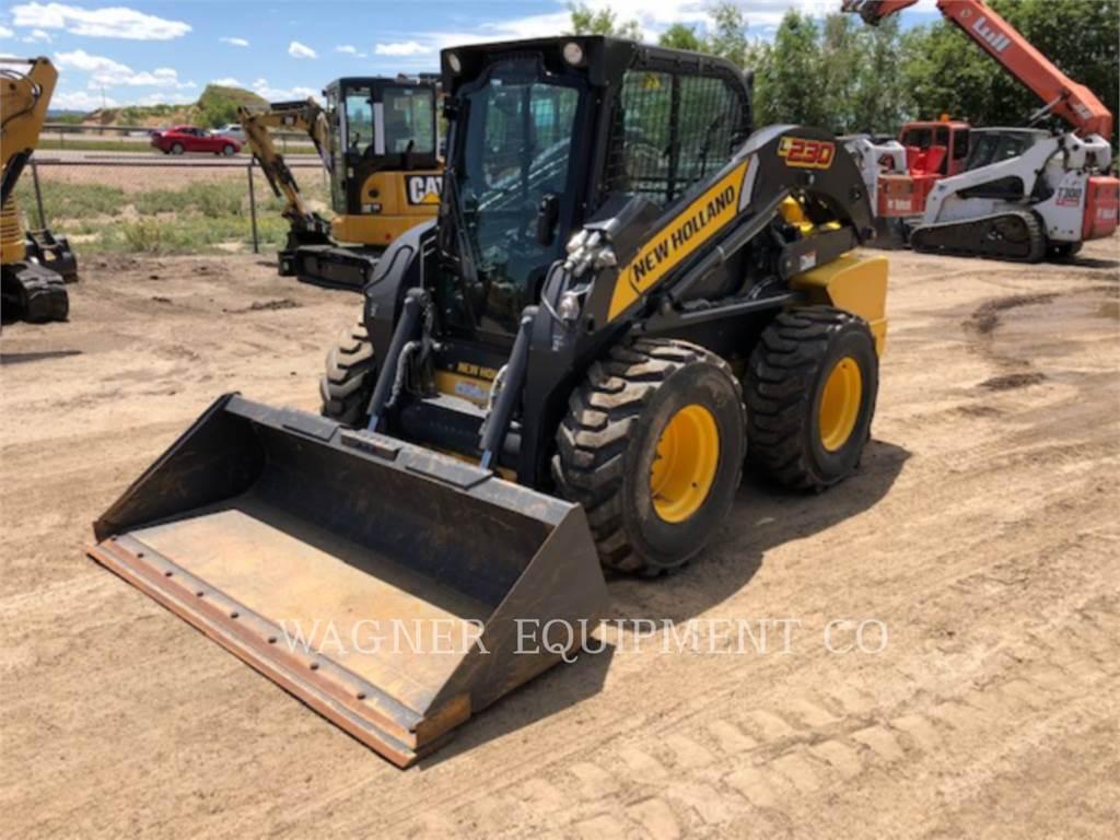 New Holland L230, Carregadoras de direcção deslizante, Equipamentos Construção