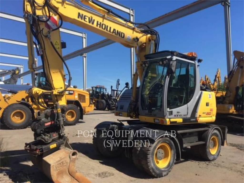 New Holland WE150C, escavadeiras de rodas, Equipamentos Construção