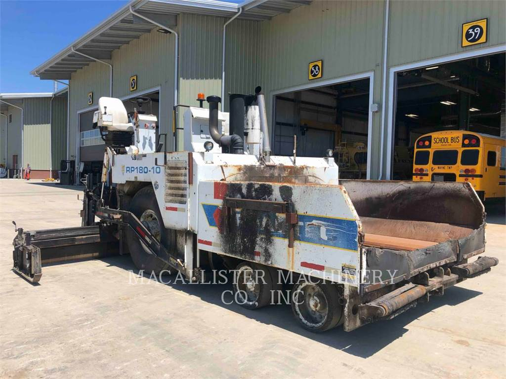 Roadtec RP180, Asphalt pavers, Construction
