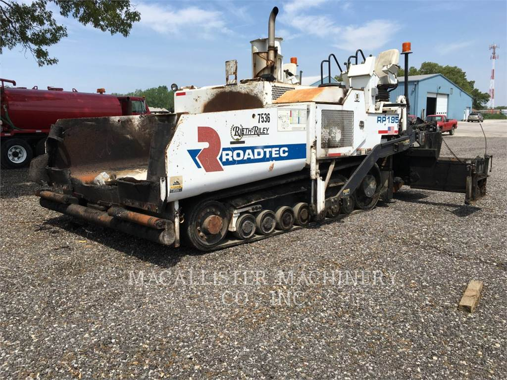 Roadtec RP195, Asphalt pavers, Construction