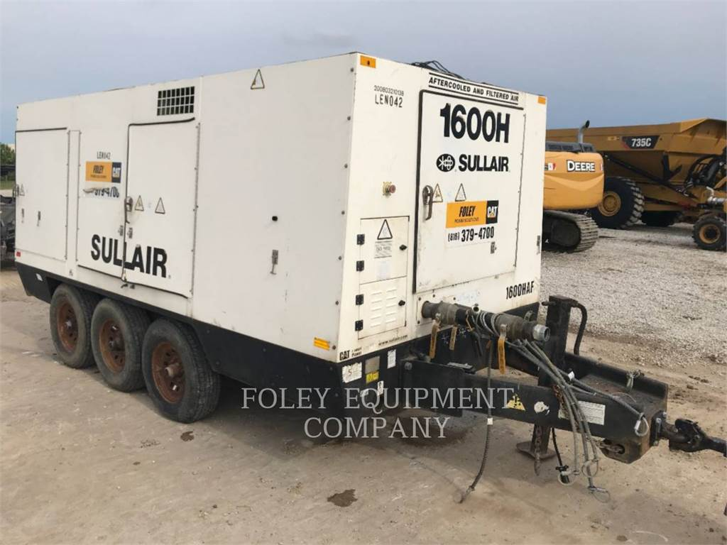 Sullair 1600HAFDTQ, compresseur a air, Équipement De Construction