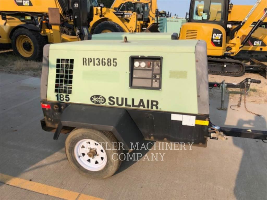 Sullair 185 CFM COMPRESSOR, sprężarka powietrza, Sprzęt budowlany