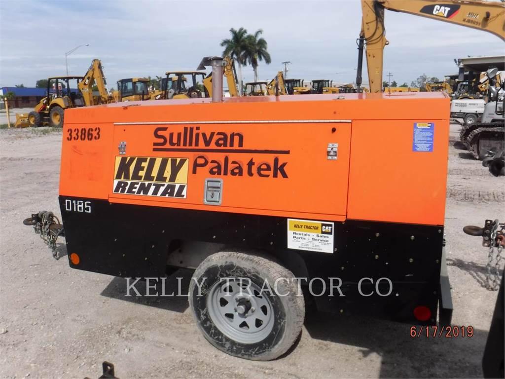 Sullivan D185P PK, luftkompressor, Bau-Und Bergbauausrüstung