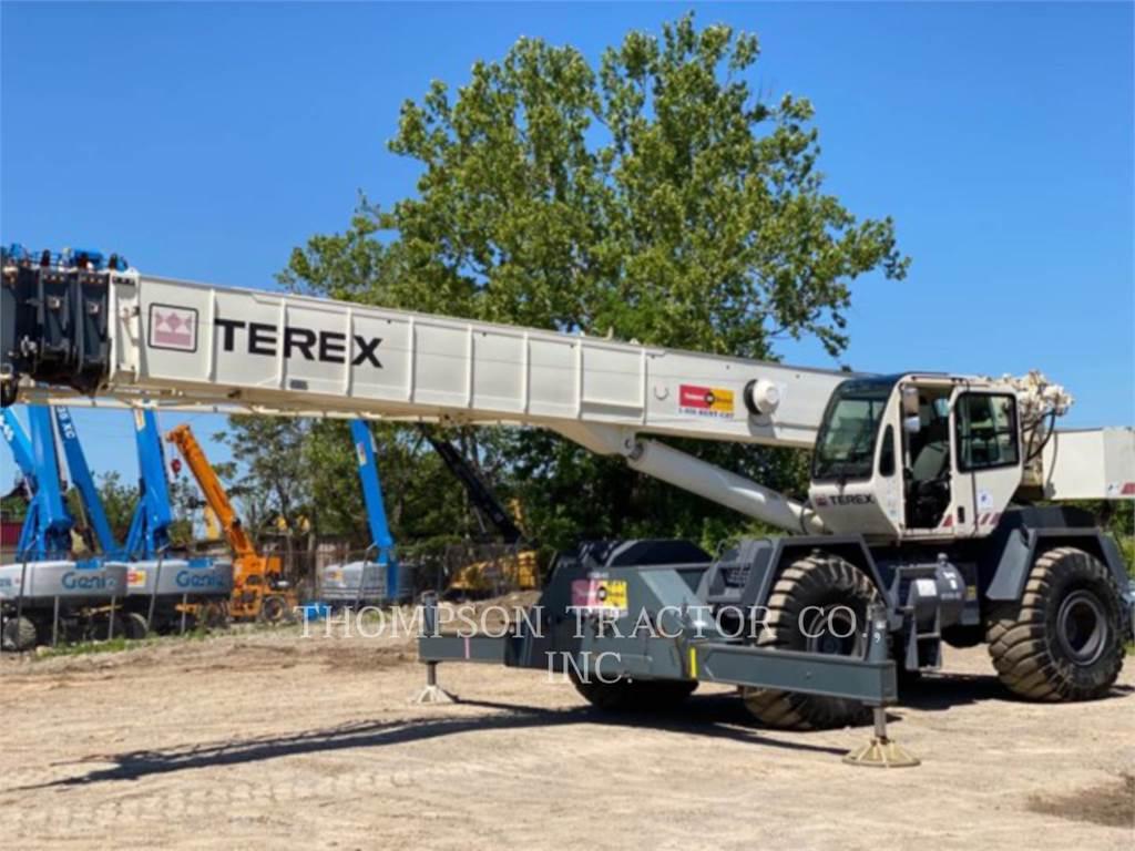Terex RT555-1, guindastes, Equipamentos Construção