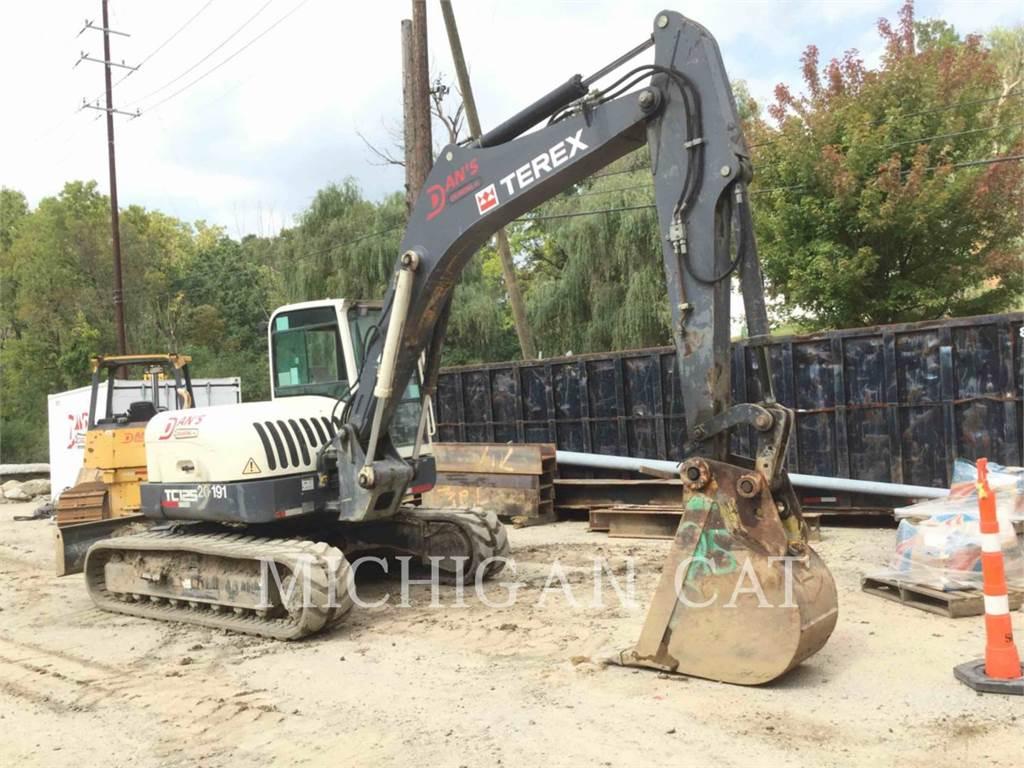 Terex TC125, Excavatoare pe senile, Constructii