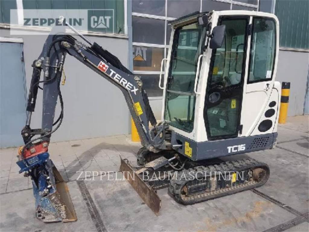 Terex TC16、履带挖掘机、建筑设备
