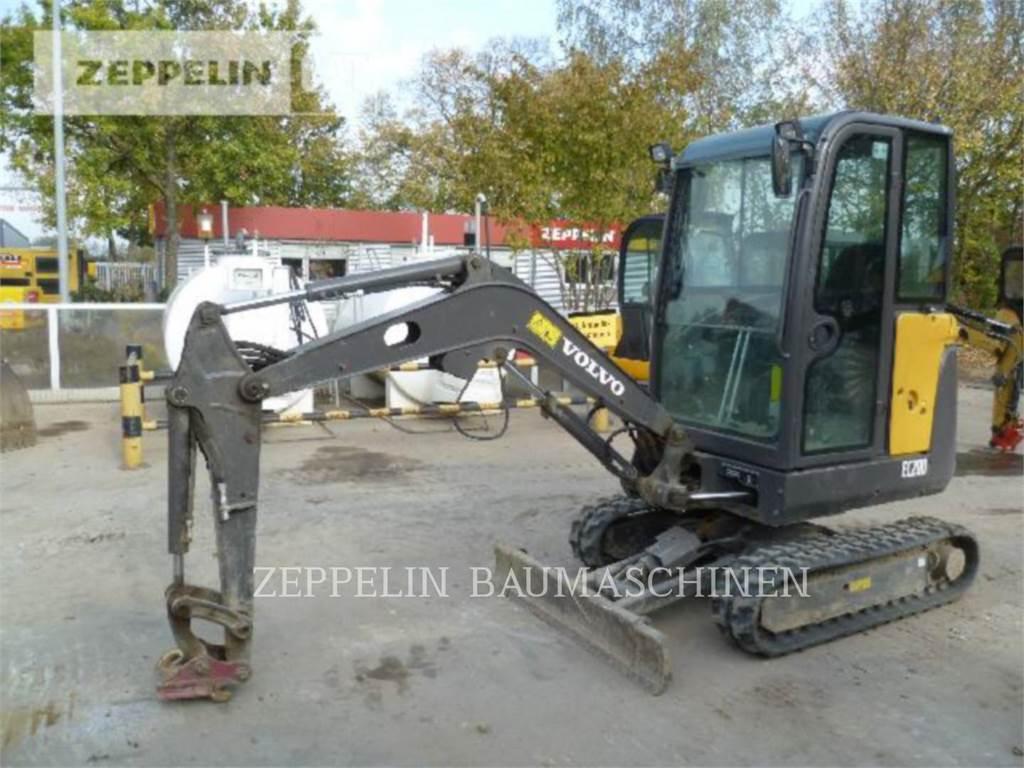 Volvo EC20D, Escavadoras de rastos, Equipamentos Construção