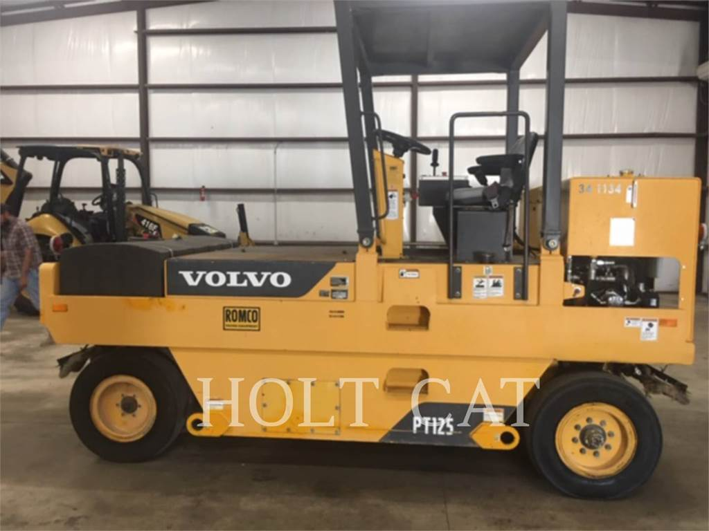 Volvo PT125, pneumatic tired compactors, Construction
