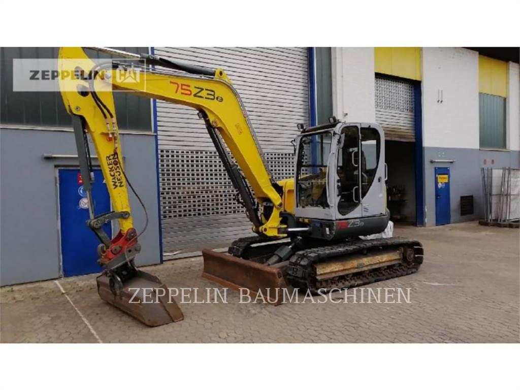 Wacker 75Z3, Escavadoras de rastos, Equipamentos Construção