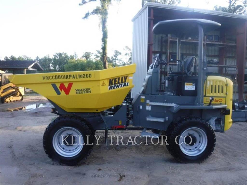 Wacker DW60, dump trucks, Transport