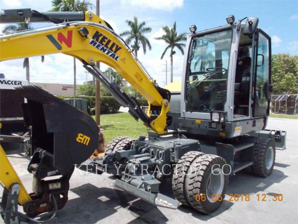 Wacker EW65, wheel excavator, Construction
