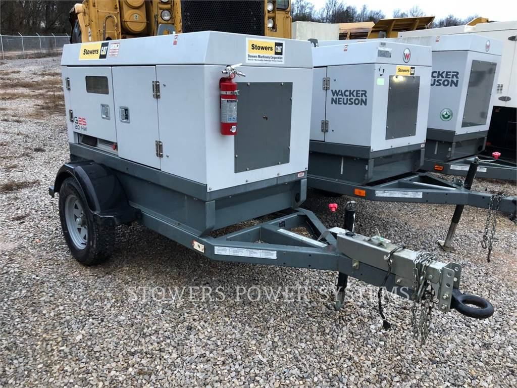 Wacker G25, mobile generator sets, Construction